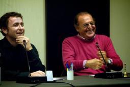"""Presentazione di """"Renzo Arbore e la radio d'autore""""il 31 ottobre 2008 presso la Federazione Nazionale della Stampa Italiana."""
