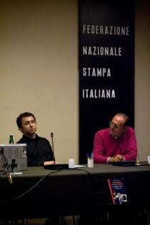 """Presentazione di """"Renzo Arbore e la radio d'autore"""" il 31 ottobre 2008 alla Federazione Nazionale della Stampa Italiana"""