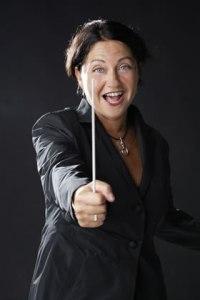 La direttrice d'orchestra Silvia Massarelli