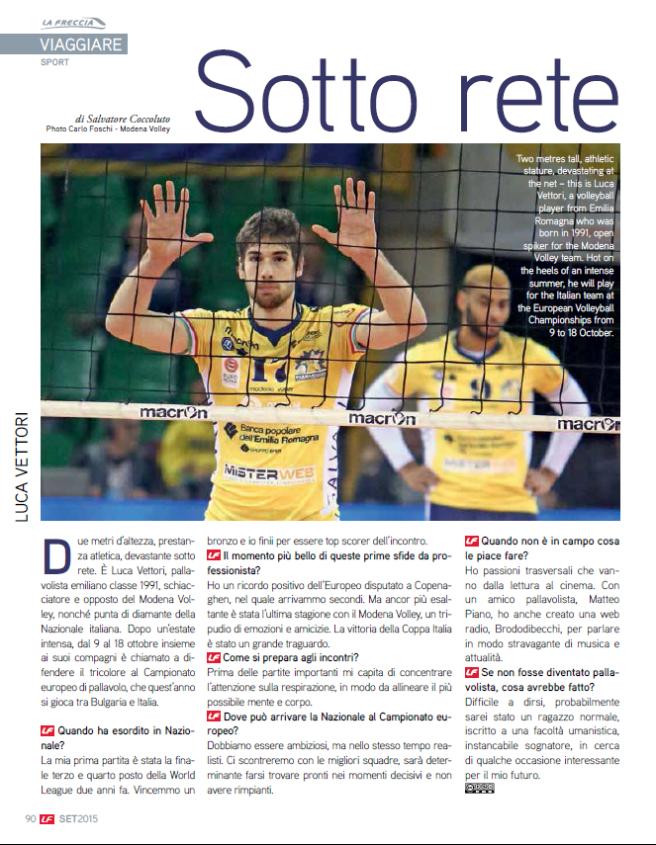 Intervista Vettori_La Freccia_Settembre