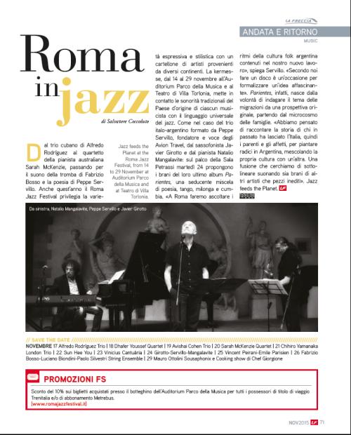 Articolo Freccia_Roma in jazz