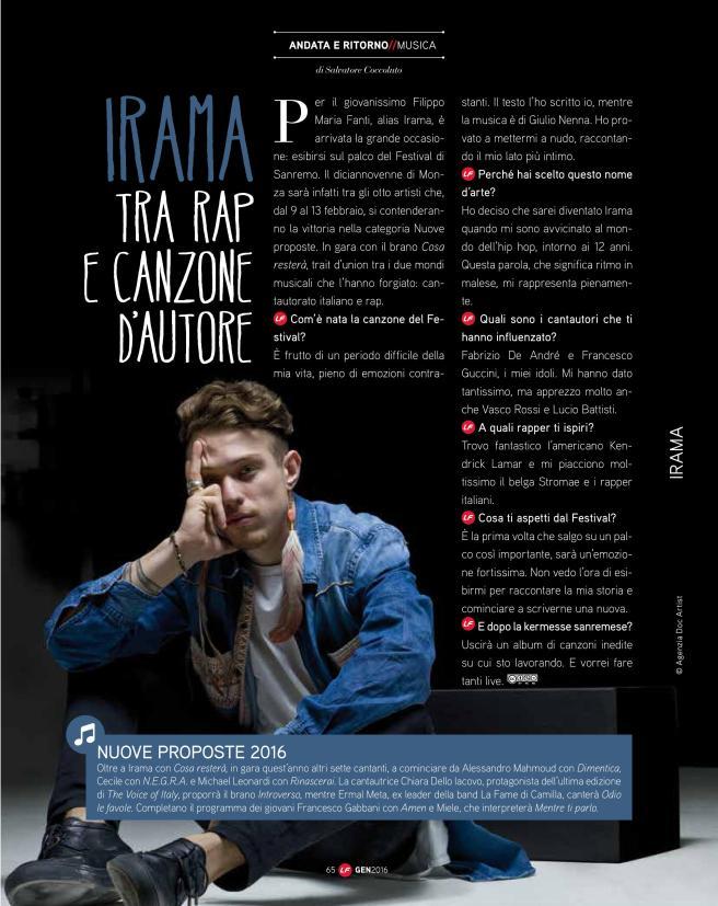 Intervista Irama