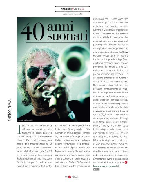 Roma Jazz Festival, 40 anni suonati – Intervista a Enrico Rava