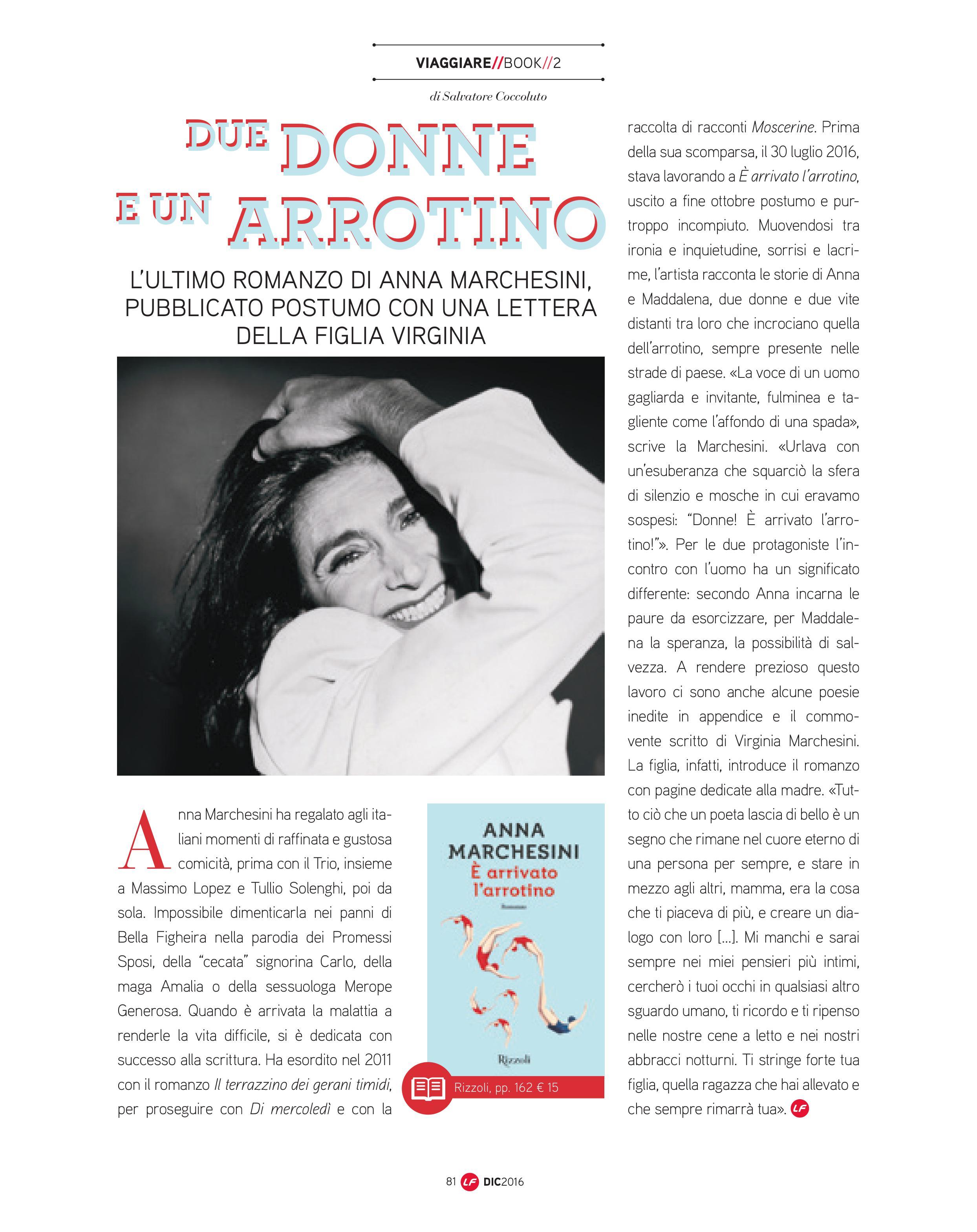 L'ultimo romanzo di Anna Marchesini